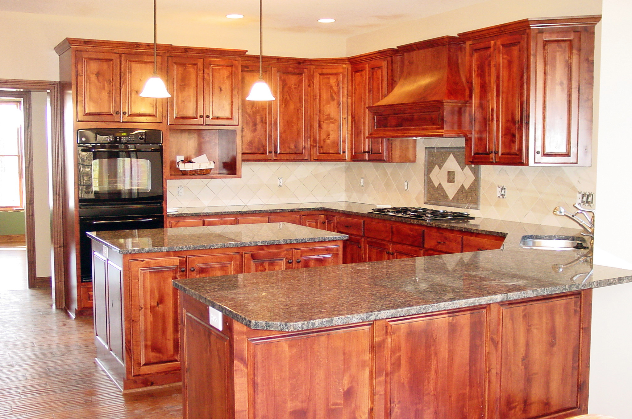 Kitchens With Wood Cabinets Kitchens Maetzold Homes Inc