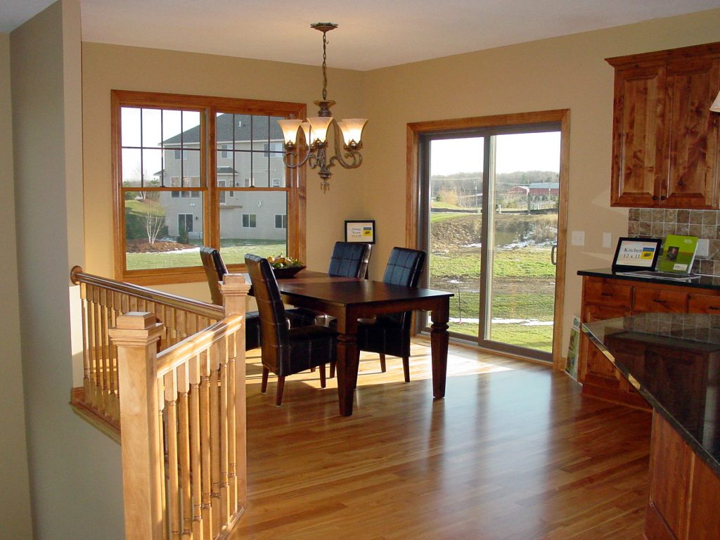 Dining room with hardwood floors