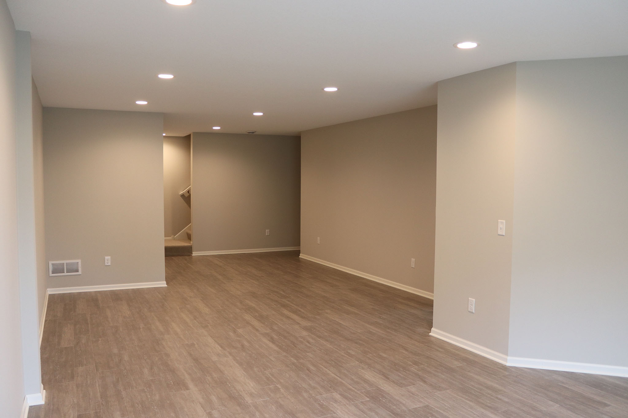 Twin home finished basement