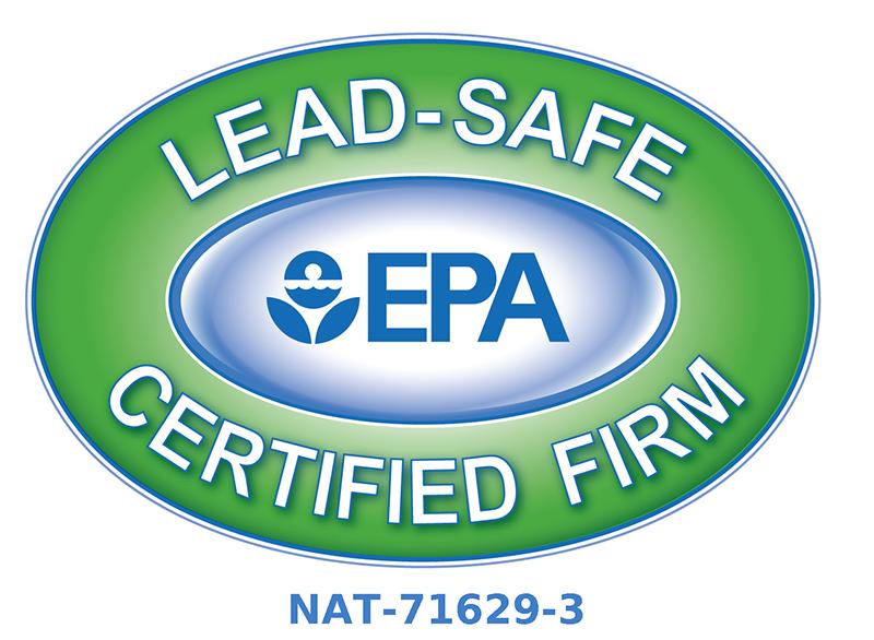 EPA Lead-safe Certified Firm (NAT-71629-3)