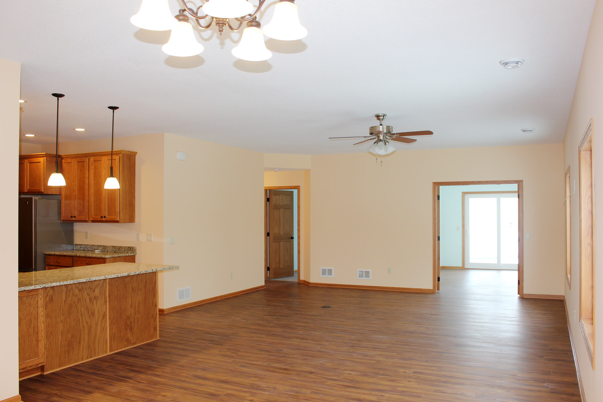 Twin home with spacious open floor plan