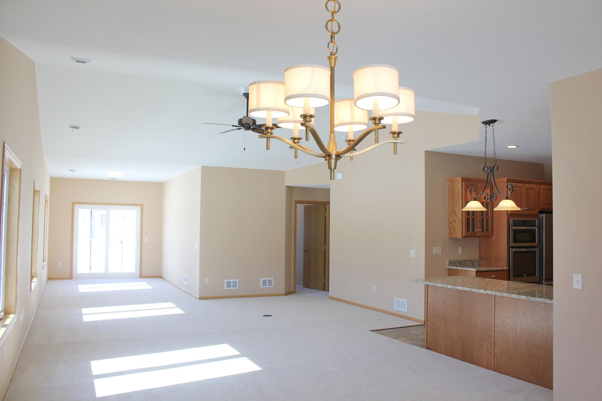 Twin home open floor plan