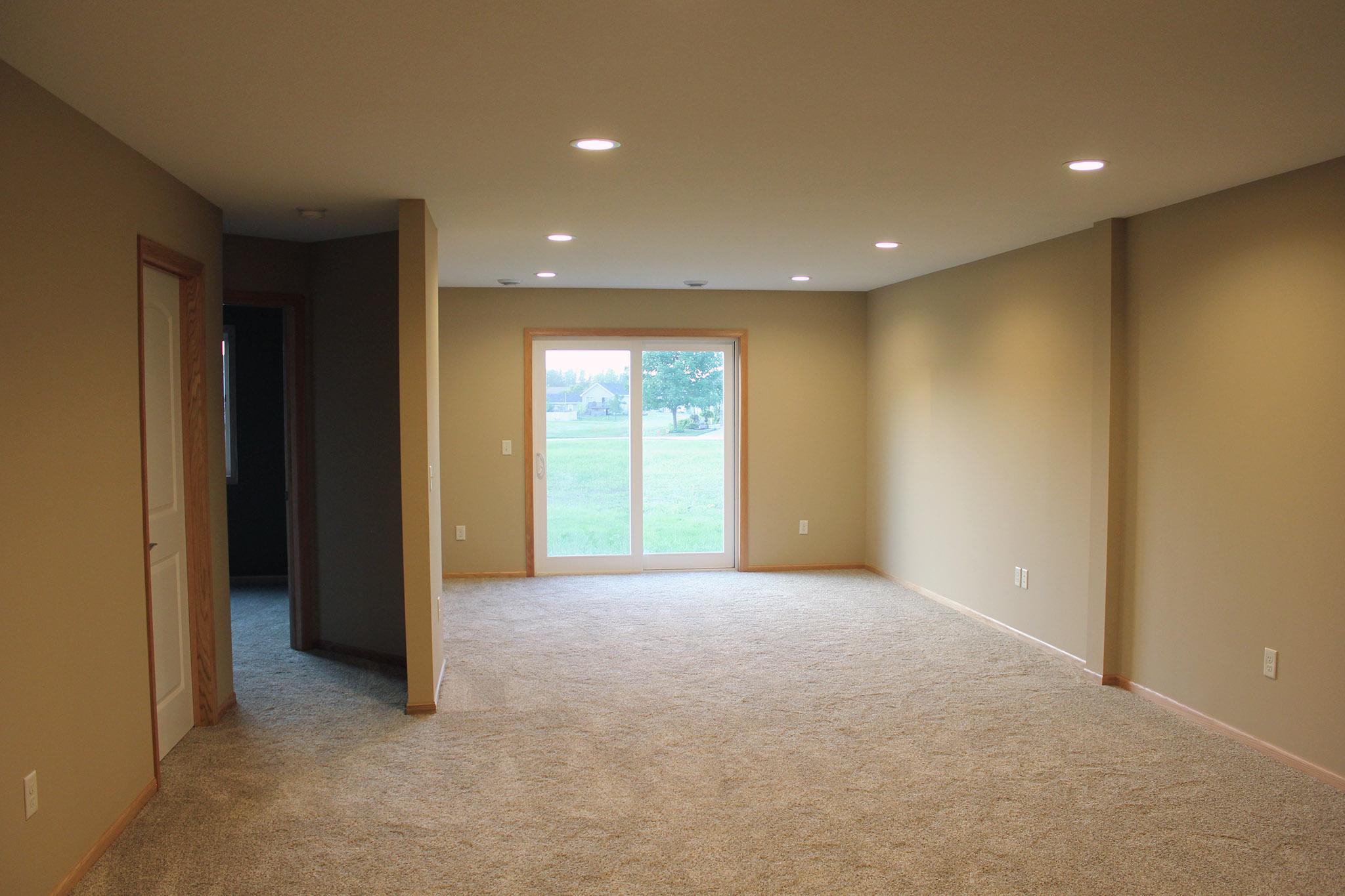 Twin home walkout basement