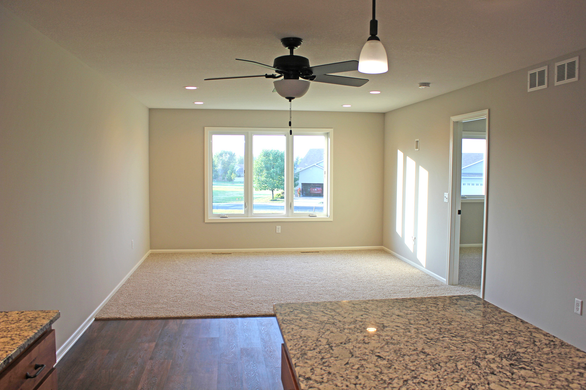 Twin home living room